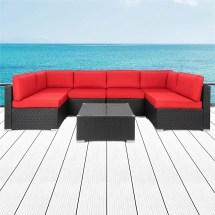 kinbor 7pcs outdoor patio furniture