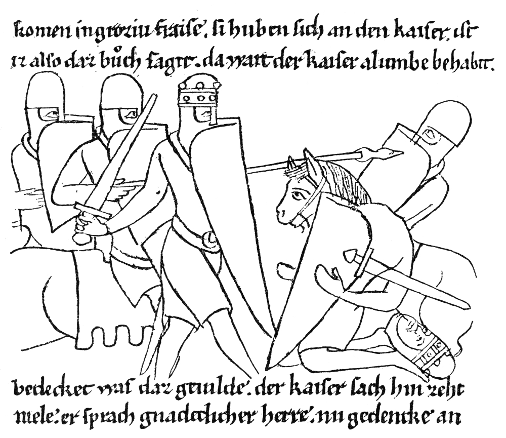 Charlemagne (742-814) Nking Of The Franks (768-814) And