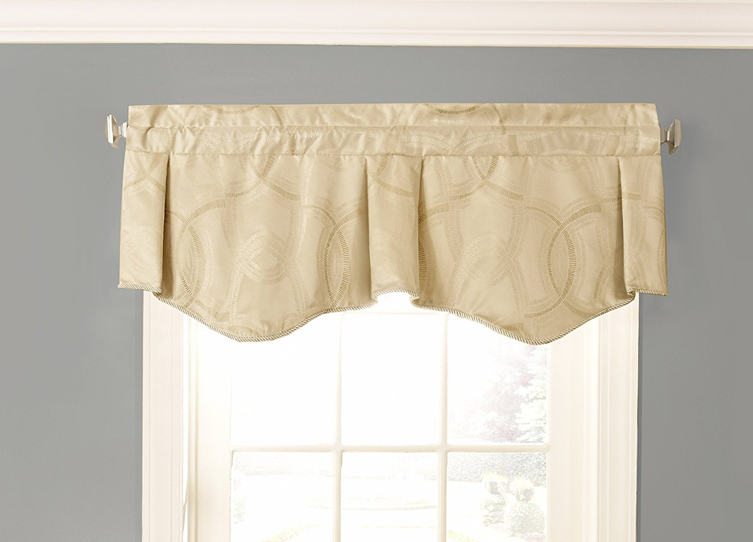 15780050x021plg odette 50 inch by 21 inch blackout single window valance pale gold 100 polyester by beautyrest from usa