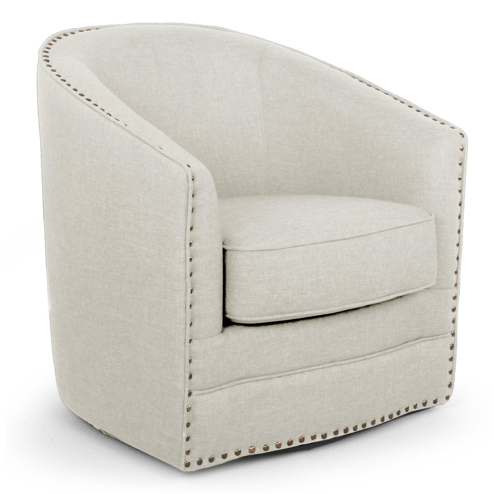 Swivel Tub Chair Baxton Studio Porter Modern And Contemporary Classic Retro Beige Fabric Upholstered Swivel Tub Chair