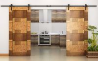 TMS 12FT Country Style Interior Double Sliding Barn Door ...