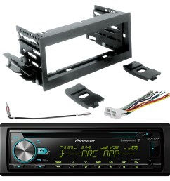 pioneer single din bluetooth cd siriusxm ready stereo scosche gm1483b dash kit gm02b radio wiring harness enrock antenna adapter sirius xm tuner fits  [ 1600 x 1600 Pixel ]