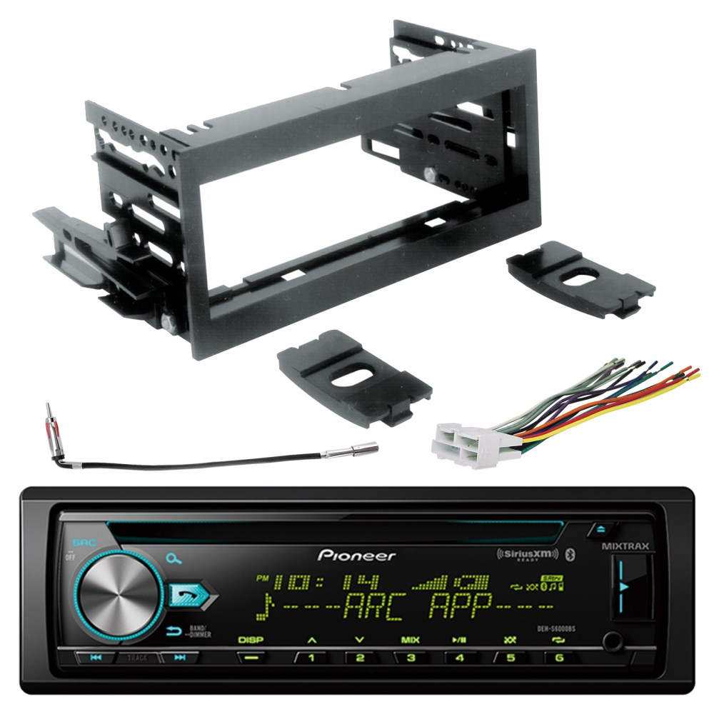 medium resolution of pioneer single din bluetooth cd siriusxm ready stereo scosche gm1483b dash kit gm02b radio wiring harness enrock antenna adapter sirius xm tuner fits