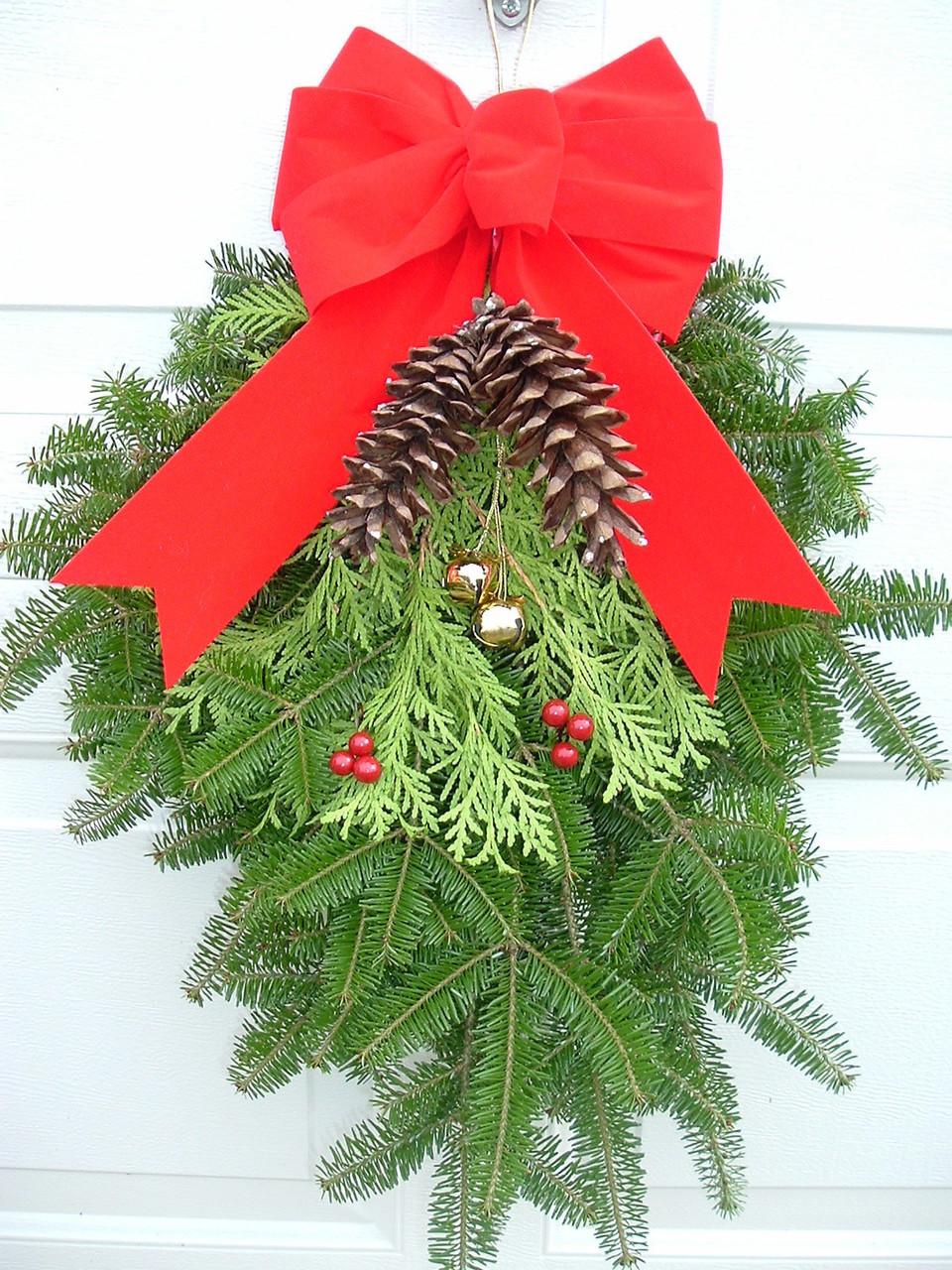 fresh christmas wreath swag
