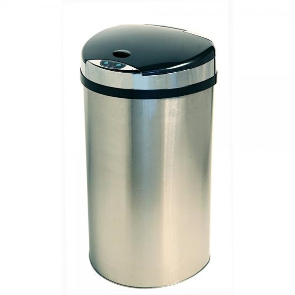 13 gallon kitchen trash can seamless flooring itouchless stainless steel semi round extra