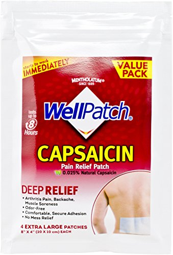 5 Pack - Mentholatum WellPatch Capsaicin Pain Relief ...