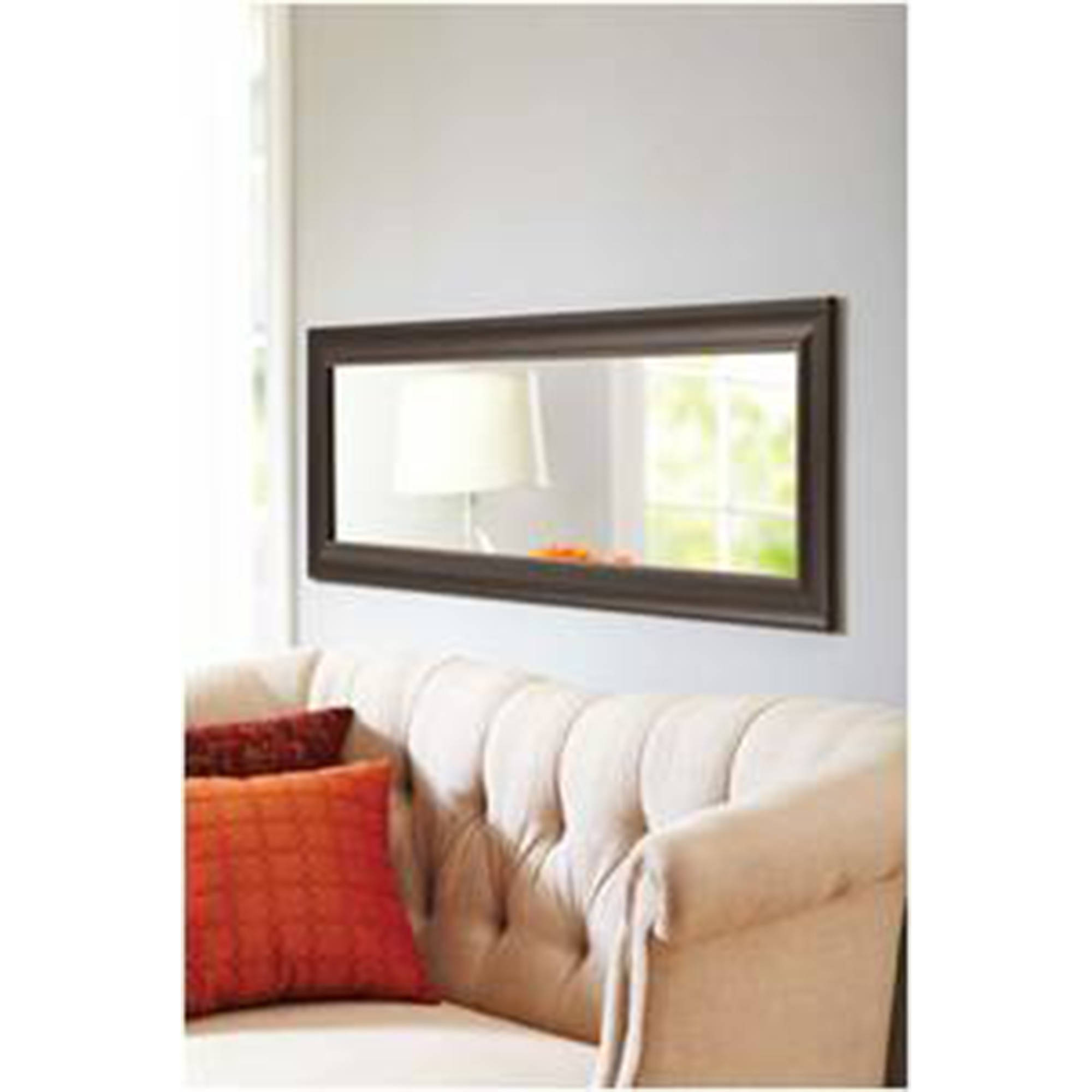 full size mirror in living room grey carpet better homes and gardens 17 x 53 length monte clair bronze walmart com