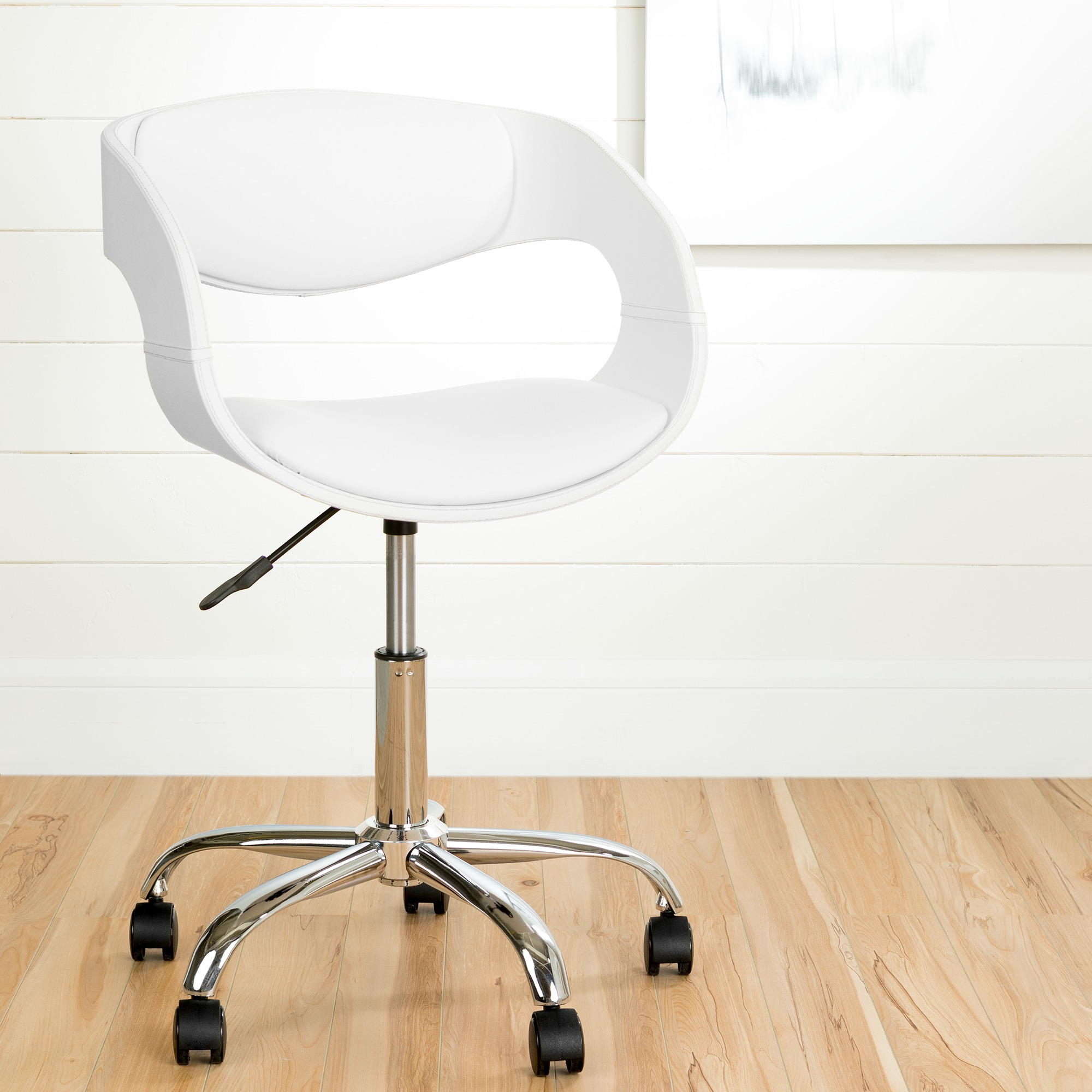 Chair On Wheels South Shore Annexe Faux Leather Adjustable Office Chair On Wheels Multiple Finishes