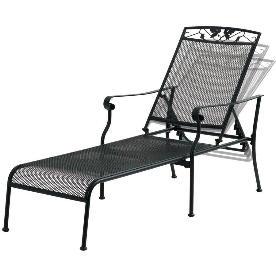 Wrought Iron Chaise Lounge Patio Furniture wrought iron
