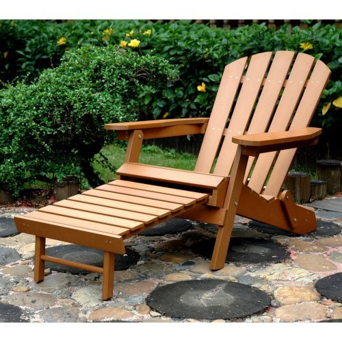 merry garden adirondack chair customized director products plastic wood folding with ottoman - walmart.com