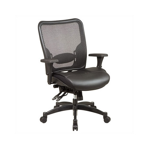 back support for office chair walmart massage rental star products space high mesh desk com