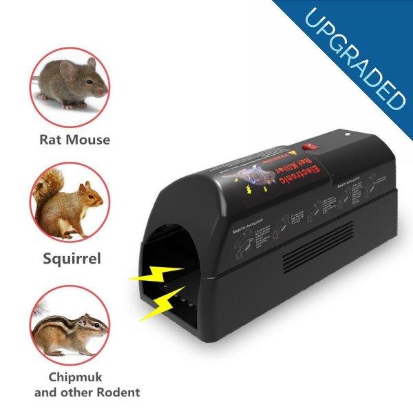 Electronic Rat Trap - Safe&humane Rodents Mouse Squirrels Zapper Killer Indoor Easy