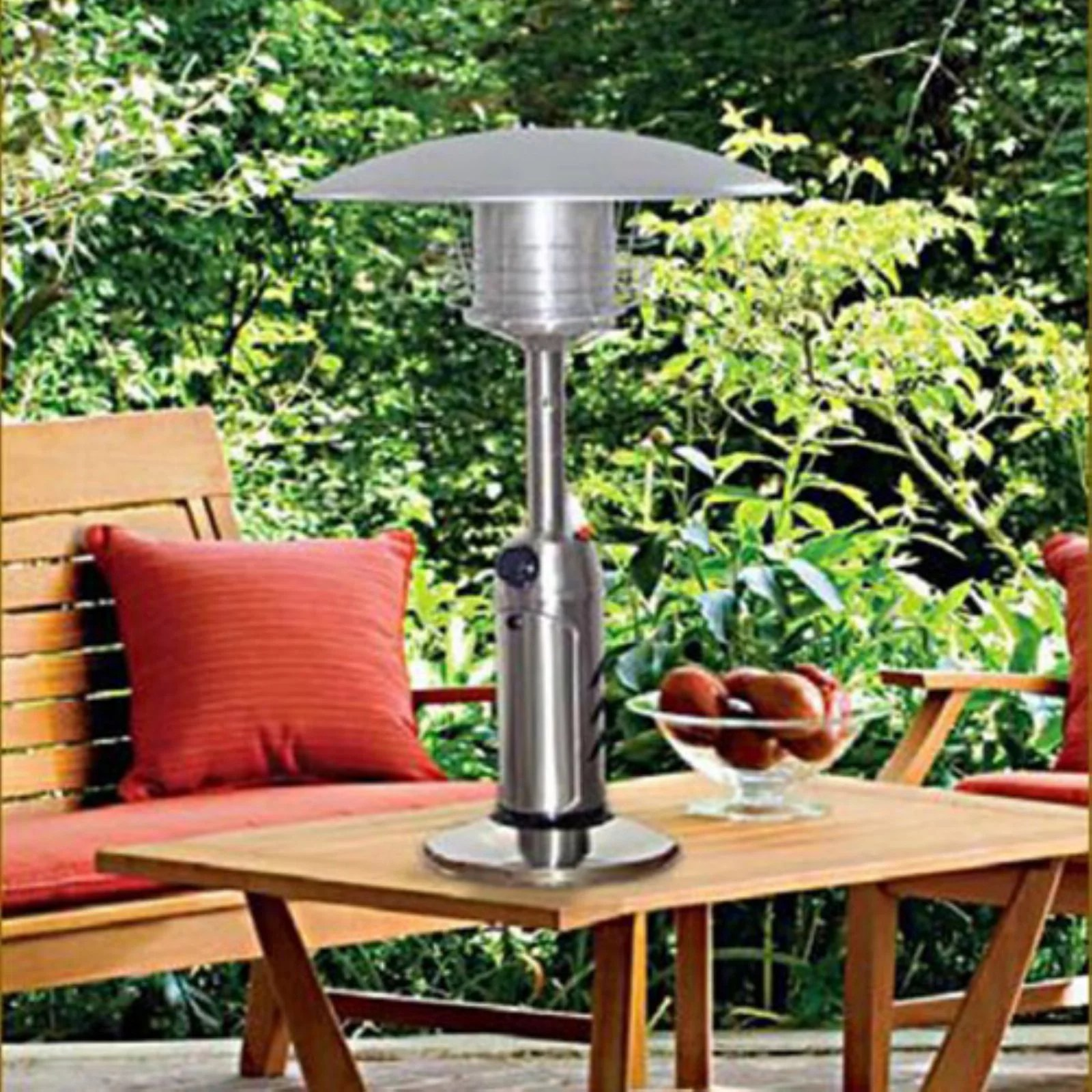 hiland portable stainless steel patio heater