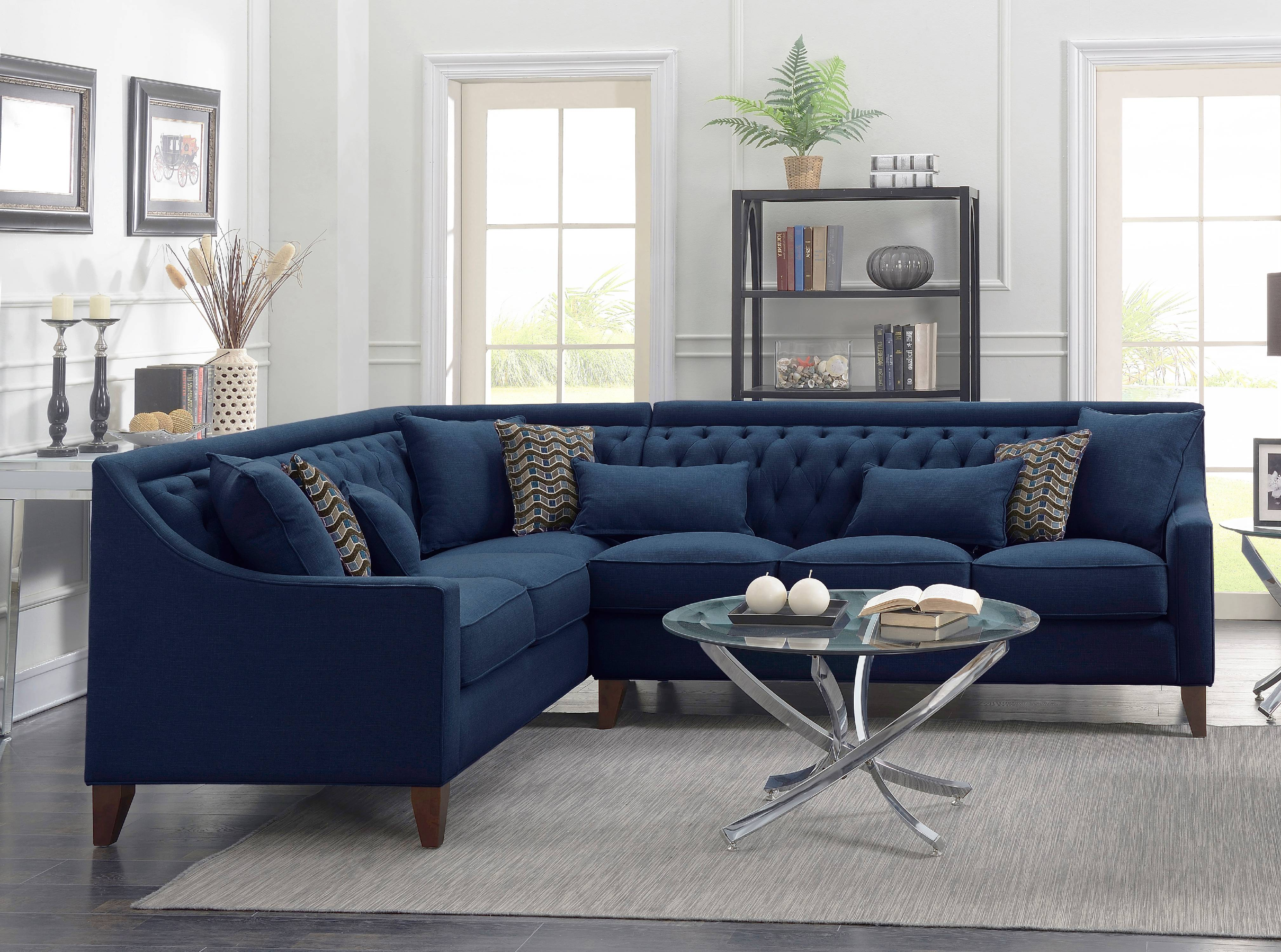 chic home fulla linen modern contemporary left facing sectional sofa