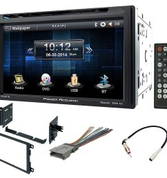 double din installation kit harness and adapter for select 90 up gm honda isuzu suzuki vehicles 90 up with power acoustik pd 651b 6 5 double din lcd  [ 1500 x 1304 Pixel ]