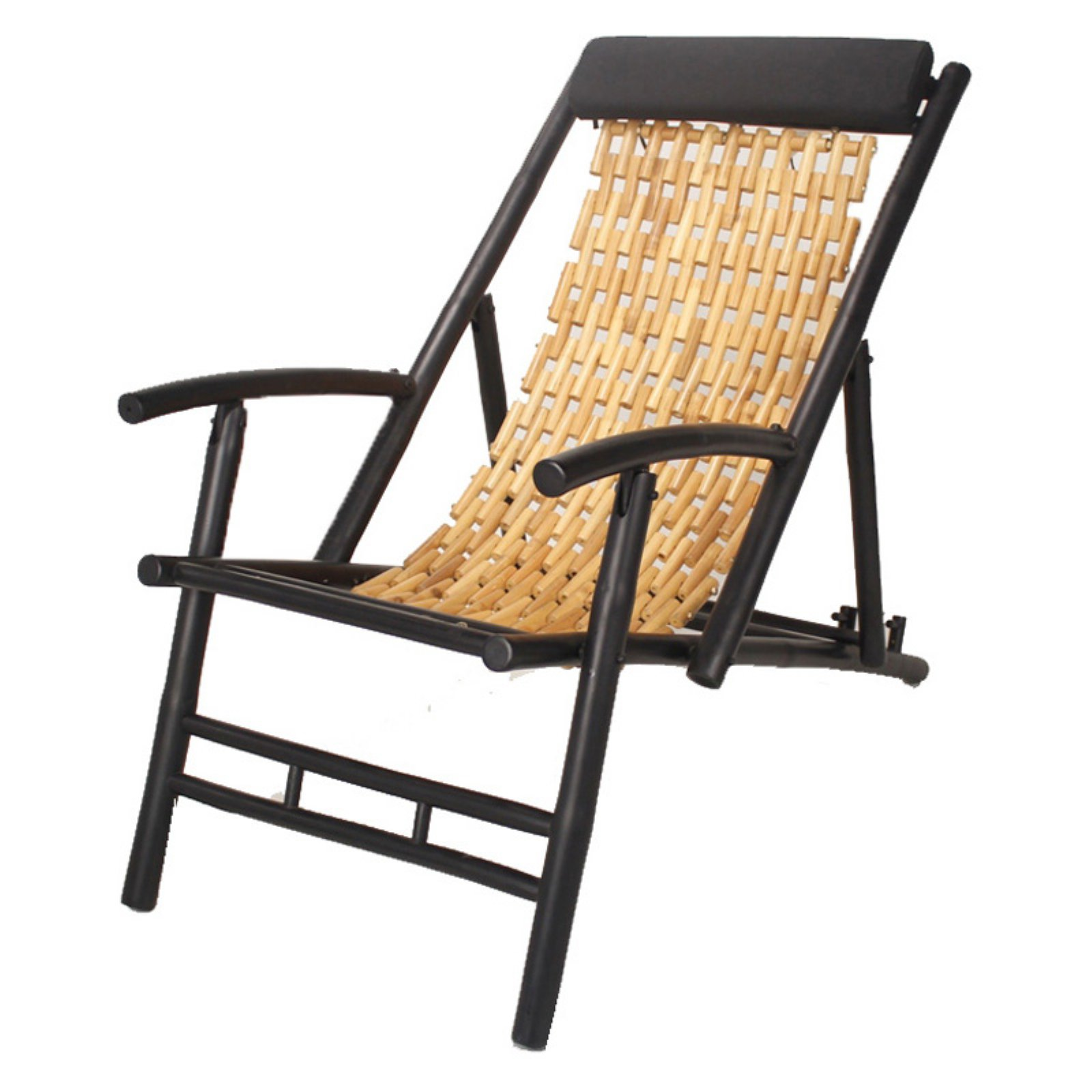 Folding Wood Beach Chair Heather Ann Creations Hilo Bamboo Sling Folding Beach Chair