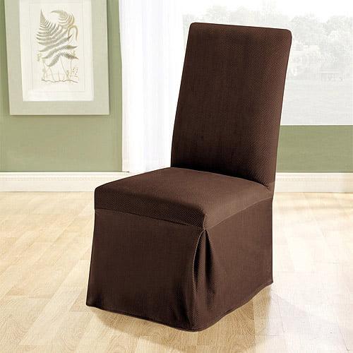 stretch dining chair covers big joe brio sure fit pique slipcover walmart com