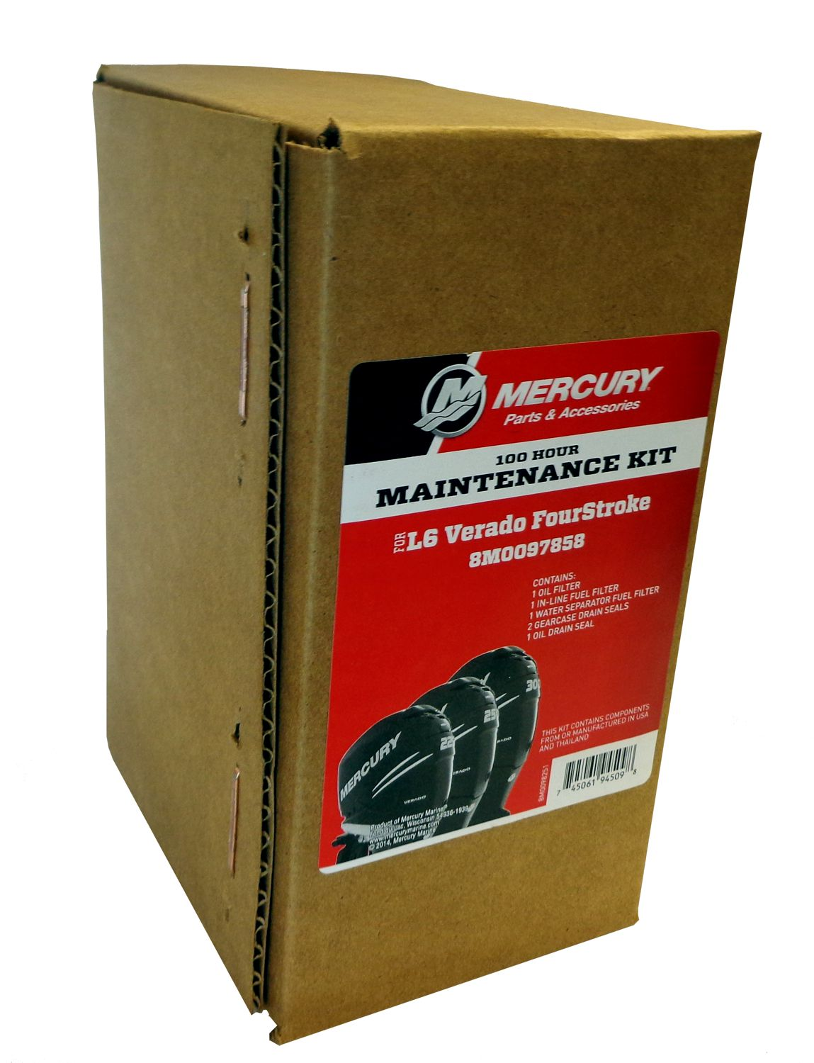 hight resolution of oem mercury 100 hour maintenance kit for l6 verado fourstroke outboard 8m0097858 walmart com