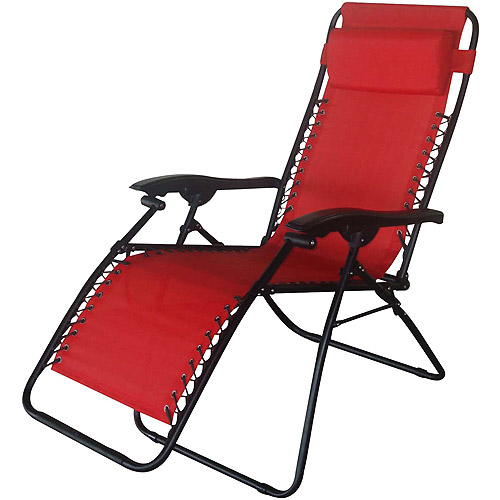 folding chaise lounge chair walmart wire dining chairs nz bungee lounge, red - walmart.com