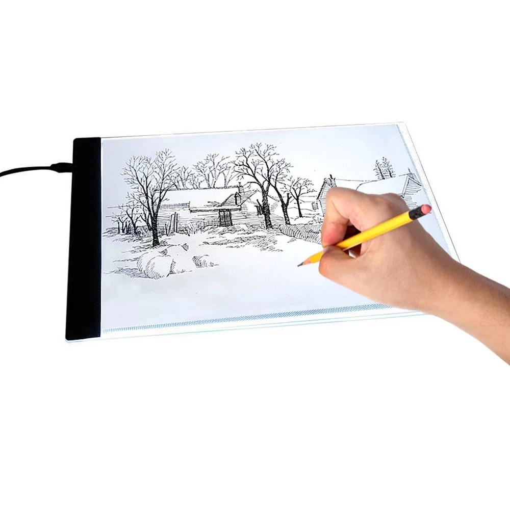 Vgeby A4 Led Slim Art Craft Drawing Tracing Tattoo Light Box Pad Board Led Light Pad A4 Led Slim Art Craft Drawing Tracing Tattoo Light Box Pad Board Lightbox Us 110 240v Walmart Com