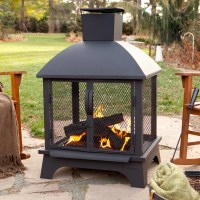 Landmann Redford Outdoor Fireplace - Walmart.com