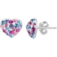 Heart Stud Earrings For Girls