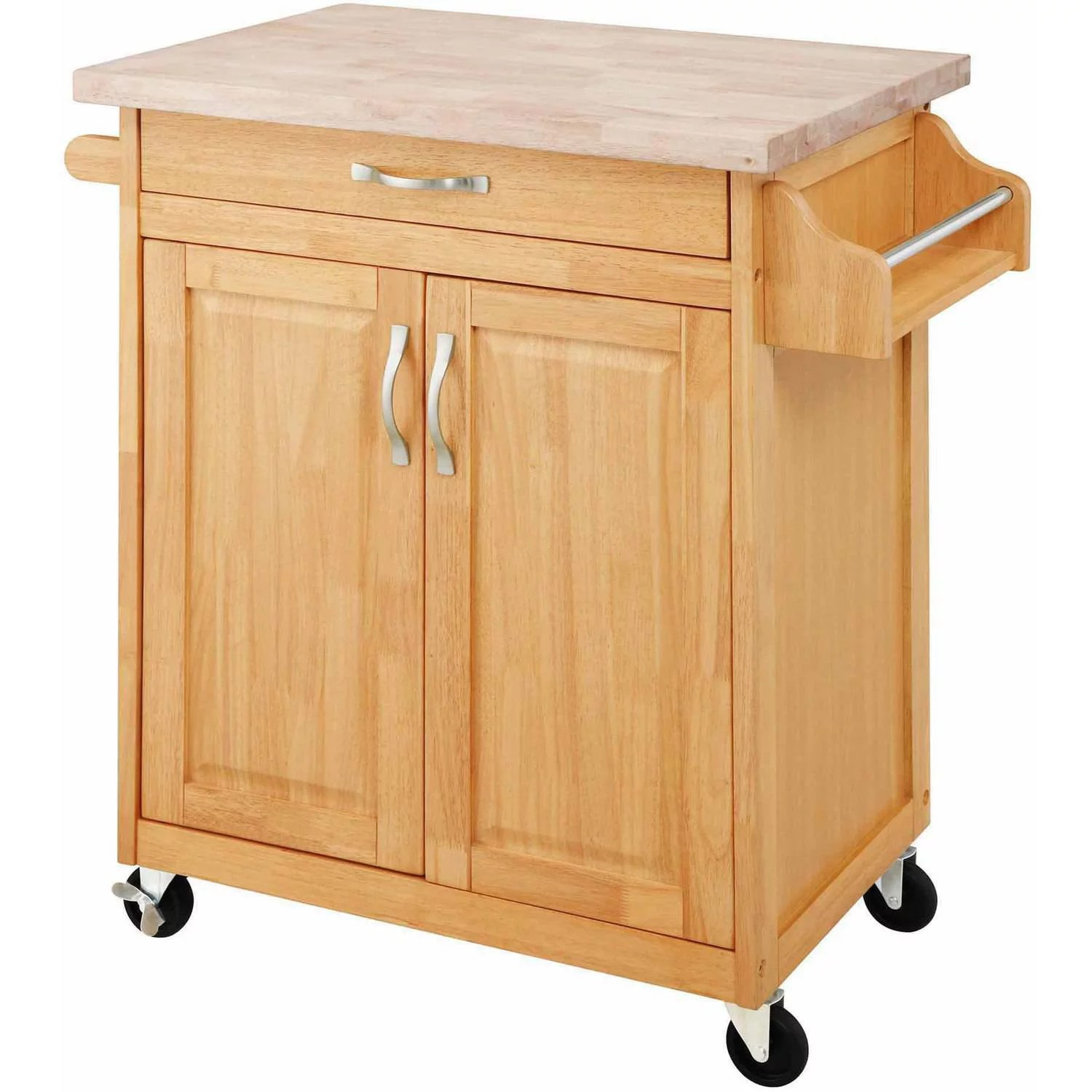 Mainstays Kitchen Island Cart Multiple Finishes  eBay