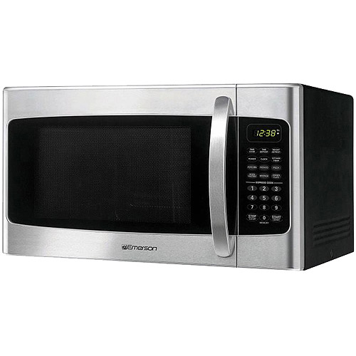 emerson stainless steel 1 1 cu ft front finish microwave oven