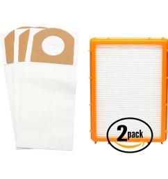 3 replacement eureka 4870g vacuum bags 2 hepa filter compatible eureka style rr vacuum bags hf 2 filter [ 1600 x 1600 Pixel ]
