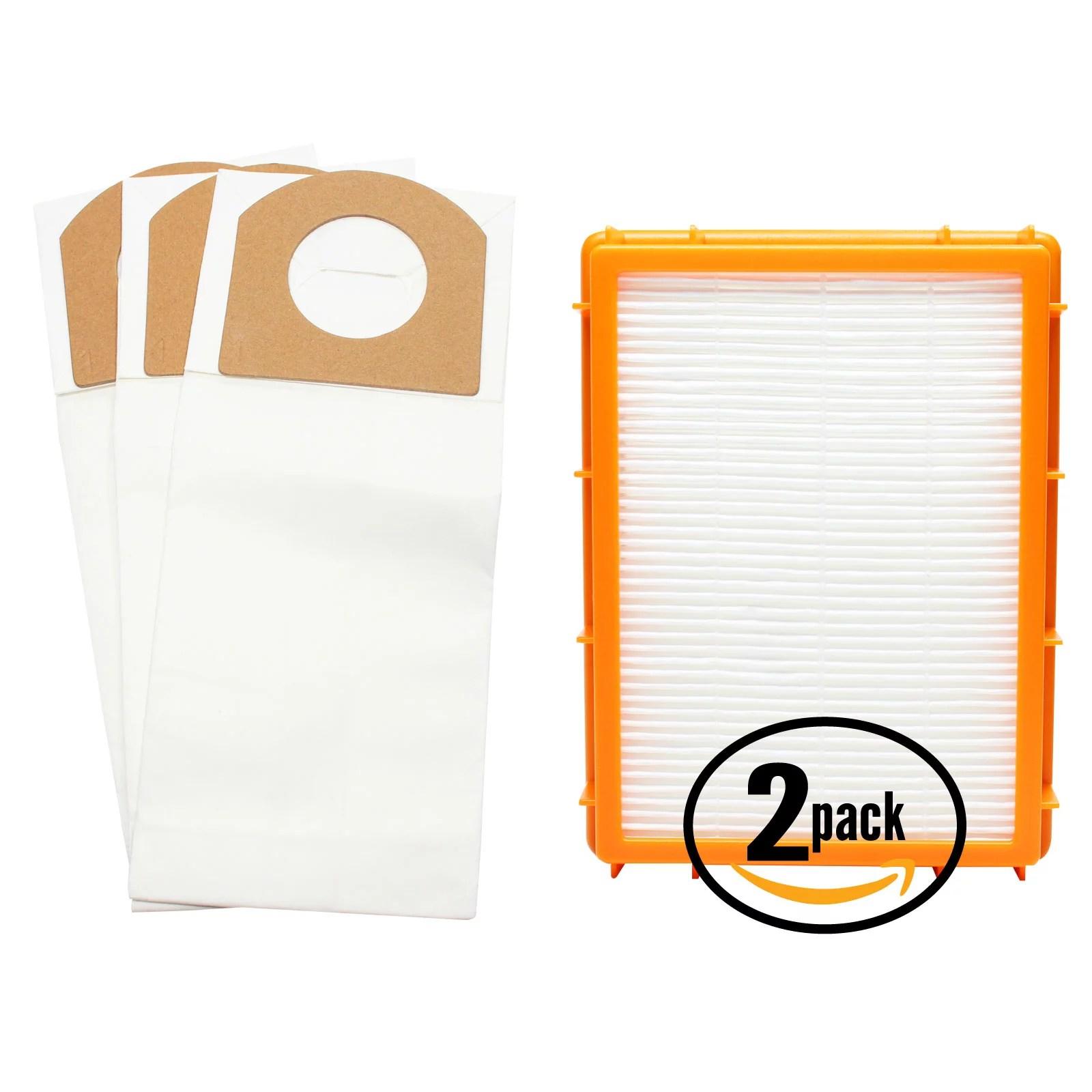hight resolution of 3 replacement eureka 4870g vacuum bags 2 hepa filter compatible eureka style rr vacuum bags hf 2 filter