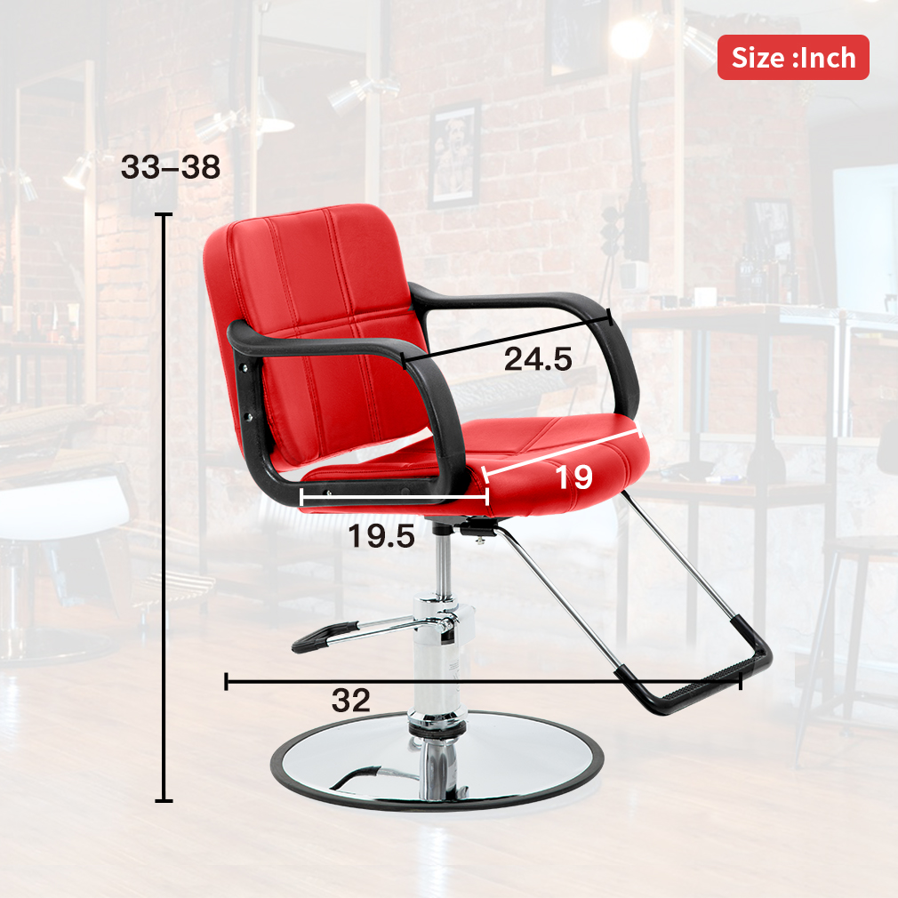 Red Barber Chair Red Hydraulic Barber Chair Styling Salon Beauty Equipment