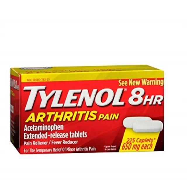 Tylenol Arthritis Pain Reliever 650 mg 100 pills - Walmart ...