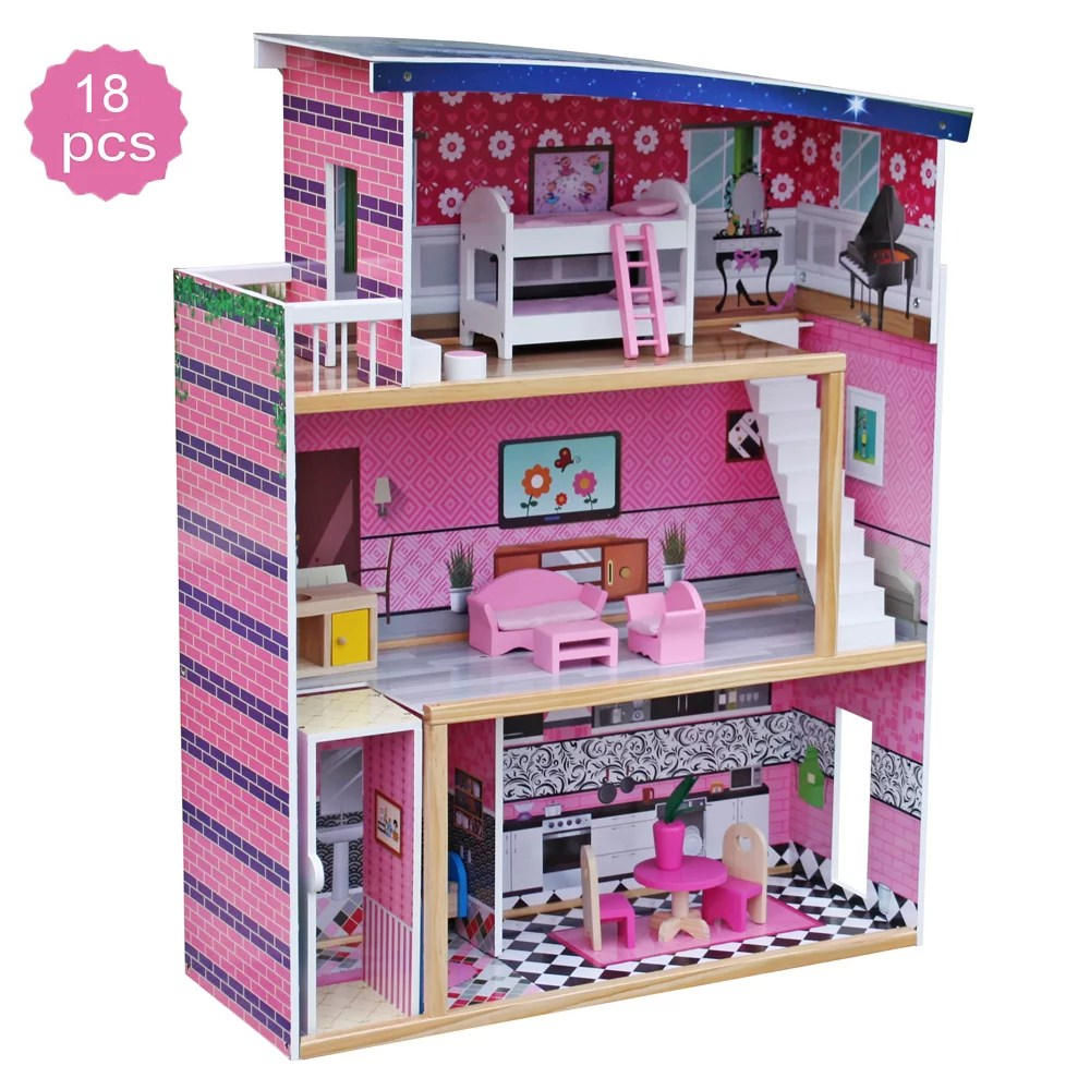 Clearance Dollhouse Accessories Wooden Toy Pretend Play