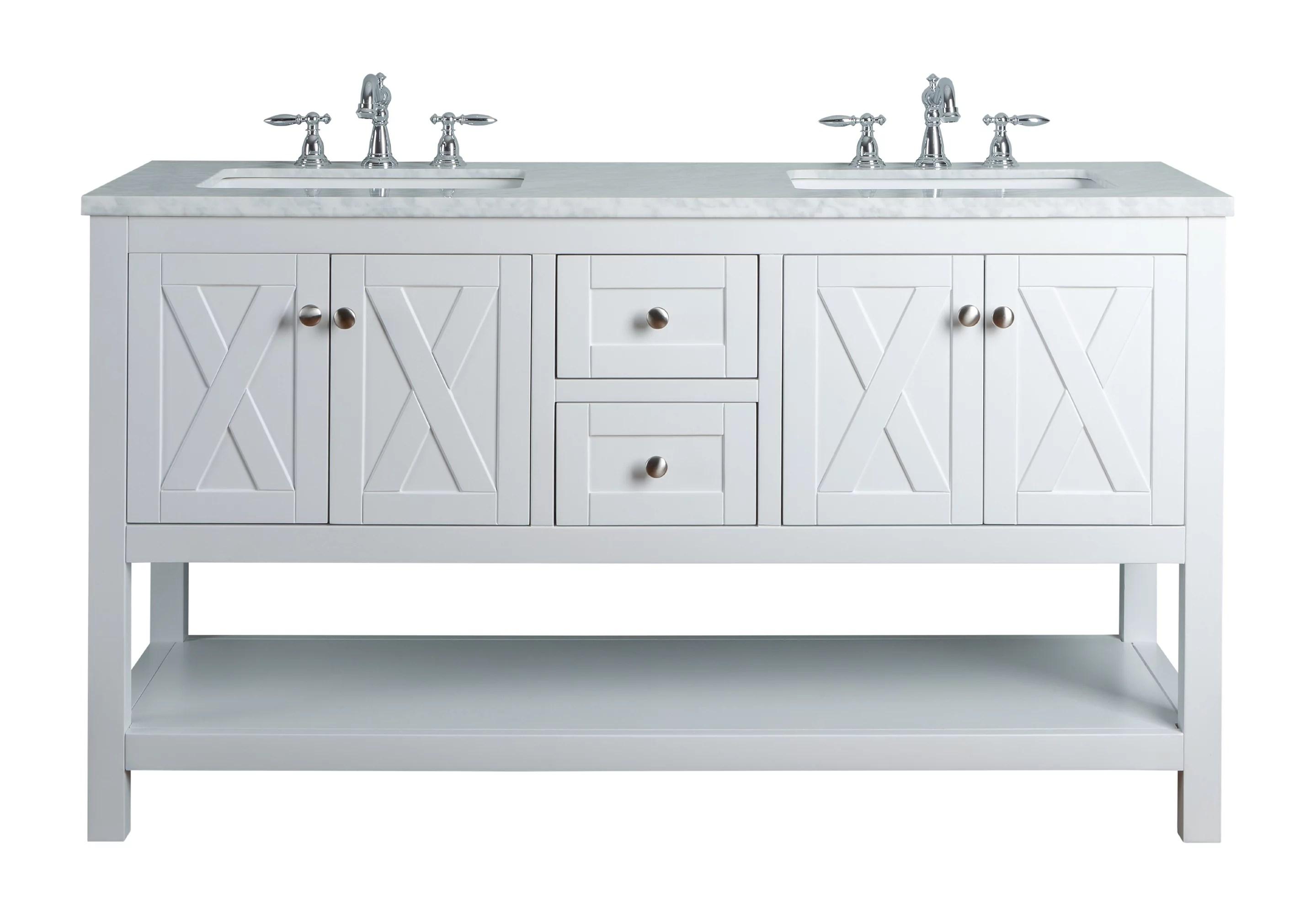 stufurhome anabelle 60 inches white double sink bathroom vanity