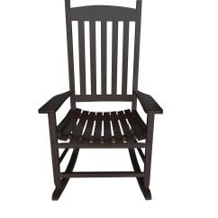 Black Rocking Chairs Electric Power Chair Mainstays Outdoor Wood Slat Walmart Com