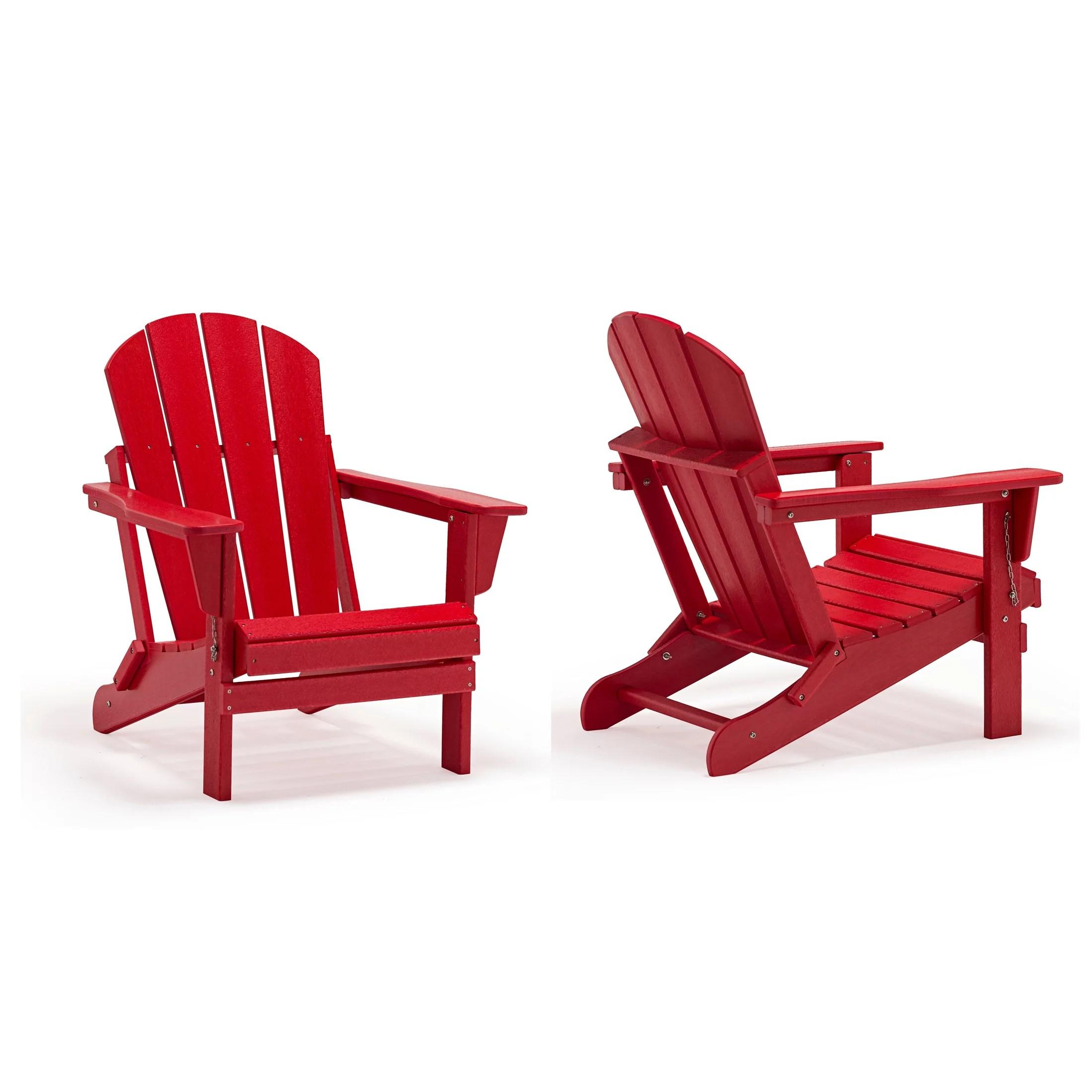 braxton outdoor folding plastic adirondack chair set of 2 red