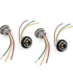 4 pcs 1157 turn signal brake light bulb socket wire harness connector walmart com [ 2000 x 2000 Pixel ]