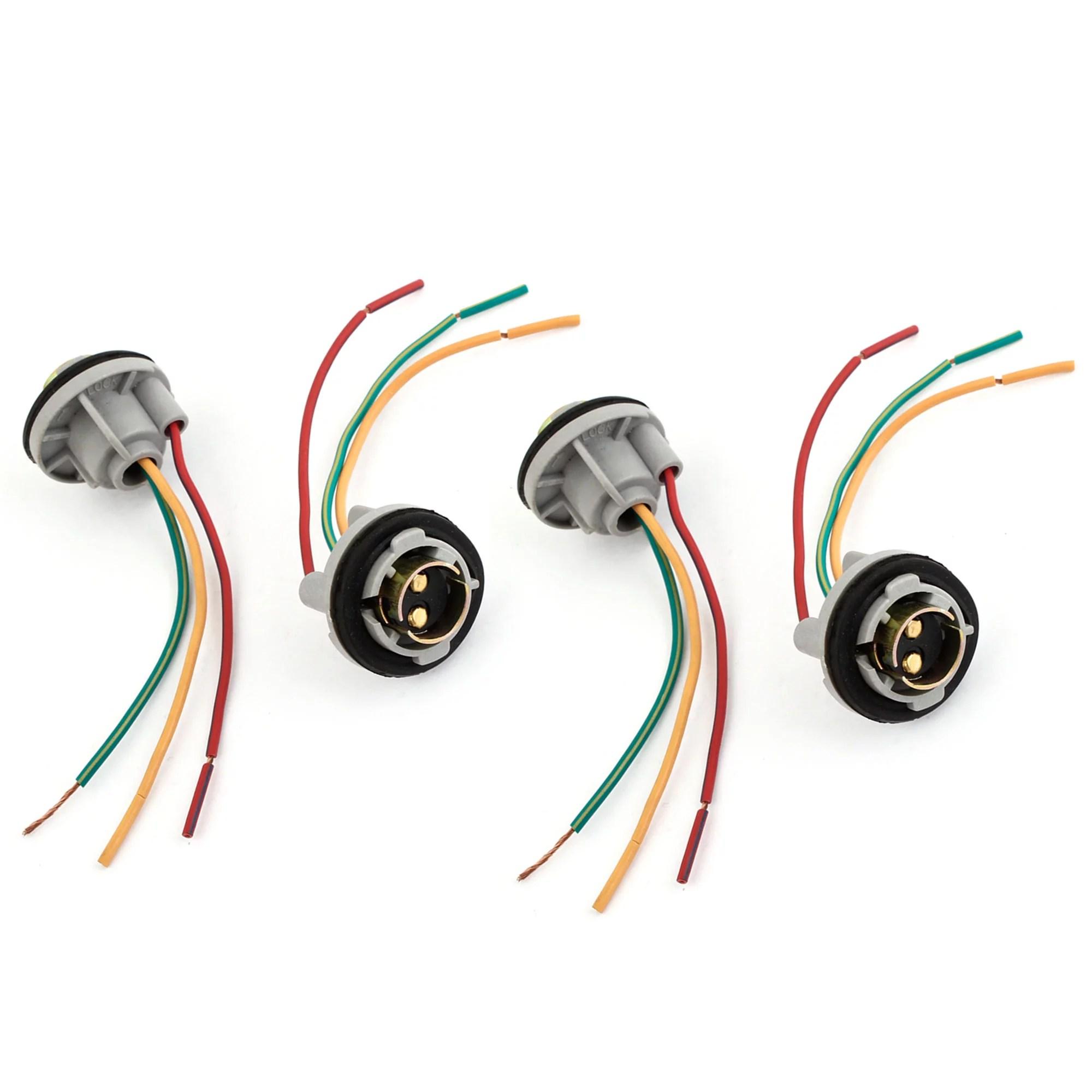 hight resolution of 4 pcs 1157 turn signal brake light bulb socket wire harness connector walmart com