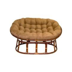 Big Bamboo Circle Chair Stair Climber Chairs Papasan Walmart Com Product Image International Caravan Rattan Double With Micro Suede Cushion