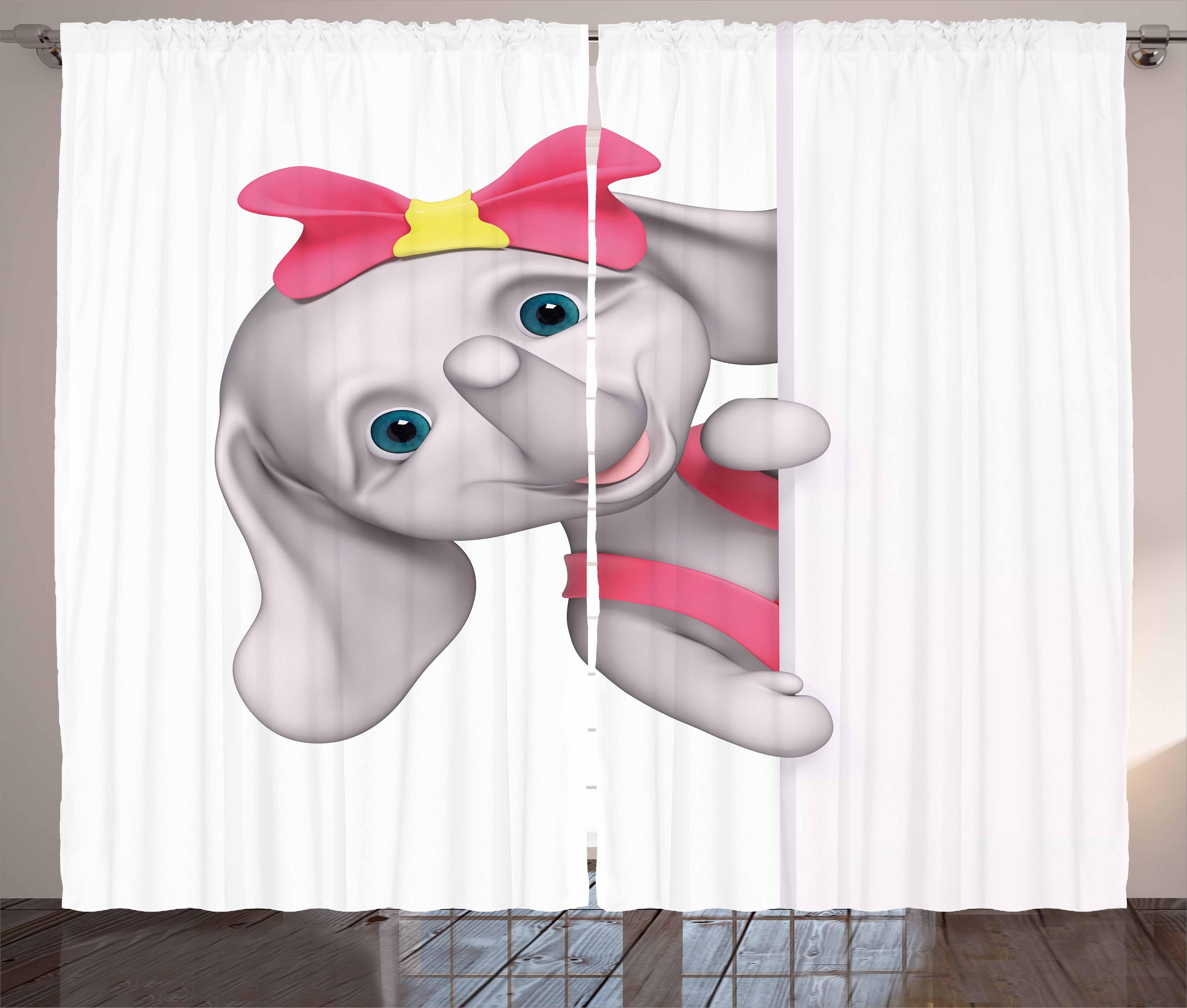 elephant nursery decor curtains
