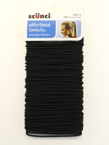 black metal hair elastics - 100