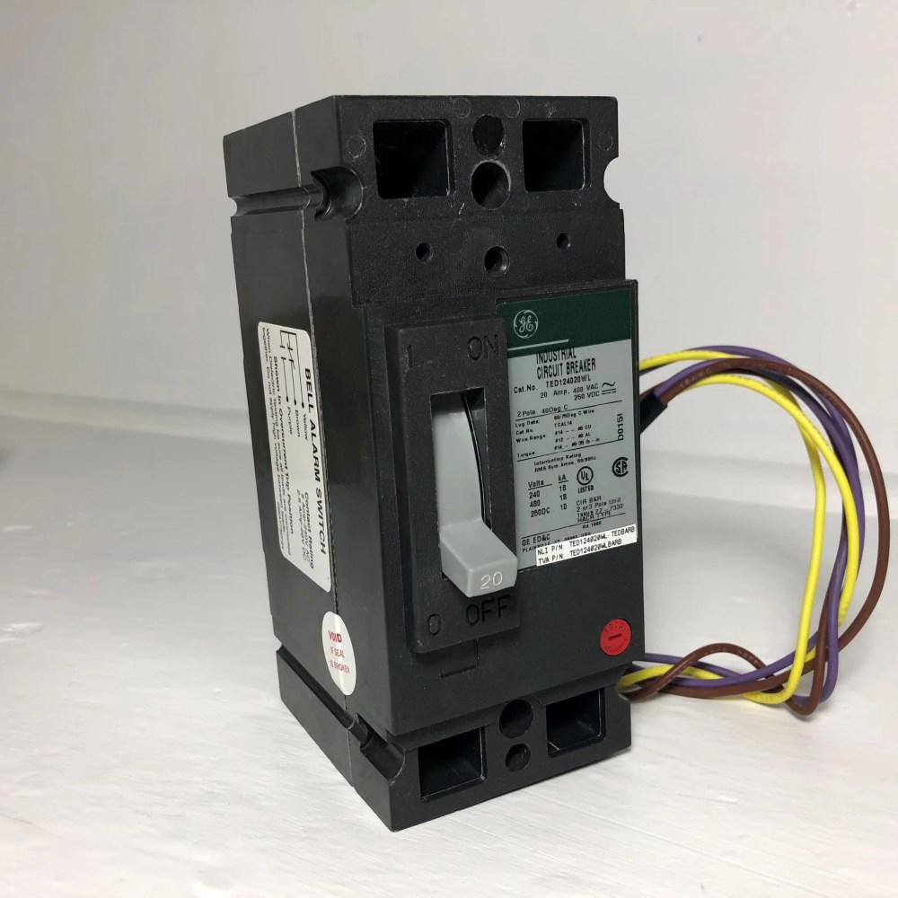 medium resolution of new ge ted124020wl 20a circuit breaker bell alarm 2p 20 amp general electric nib walmart com