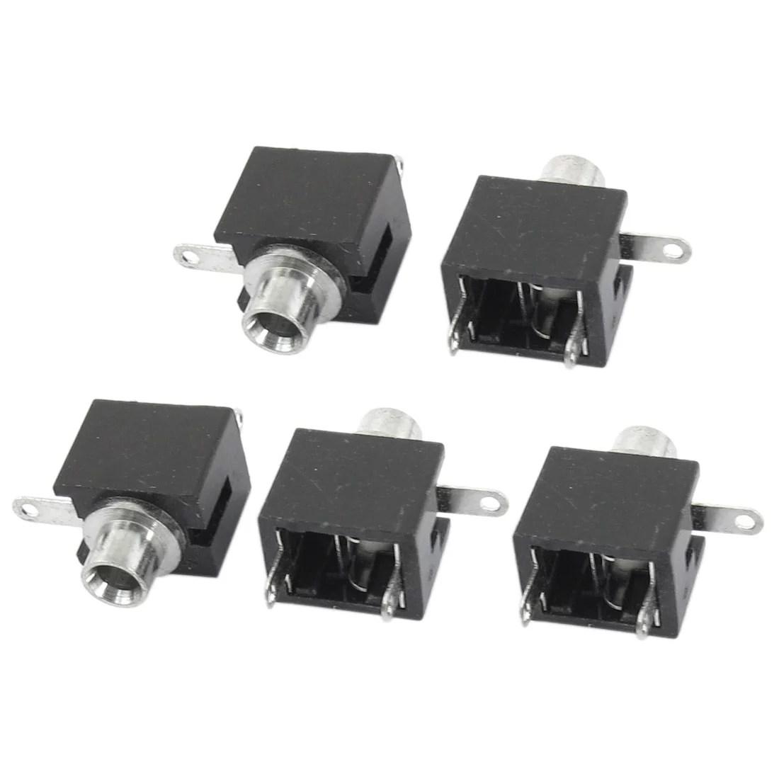 hight resolution of 5pcs 3 5mm mono female socket audio jack soldering pcb panel mount5pcs 3 5mm mono female