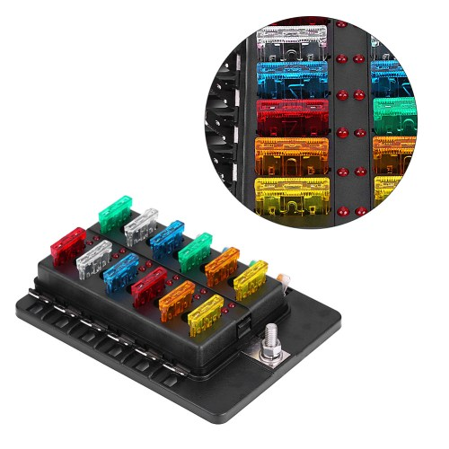 small resolution of ejoyous 12 way circuit blade fuse box standard ato atc block holder kit with pc terminal for car boat blade fuse box fuse circuit box