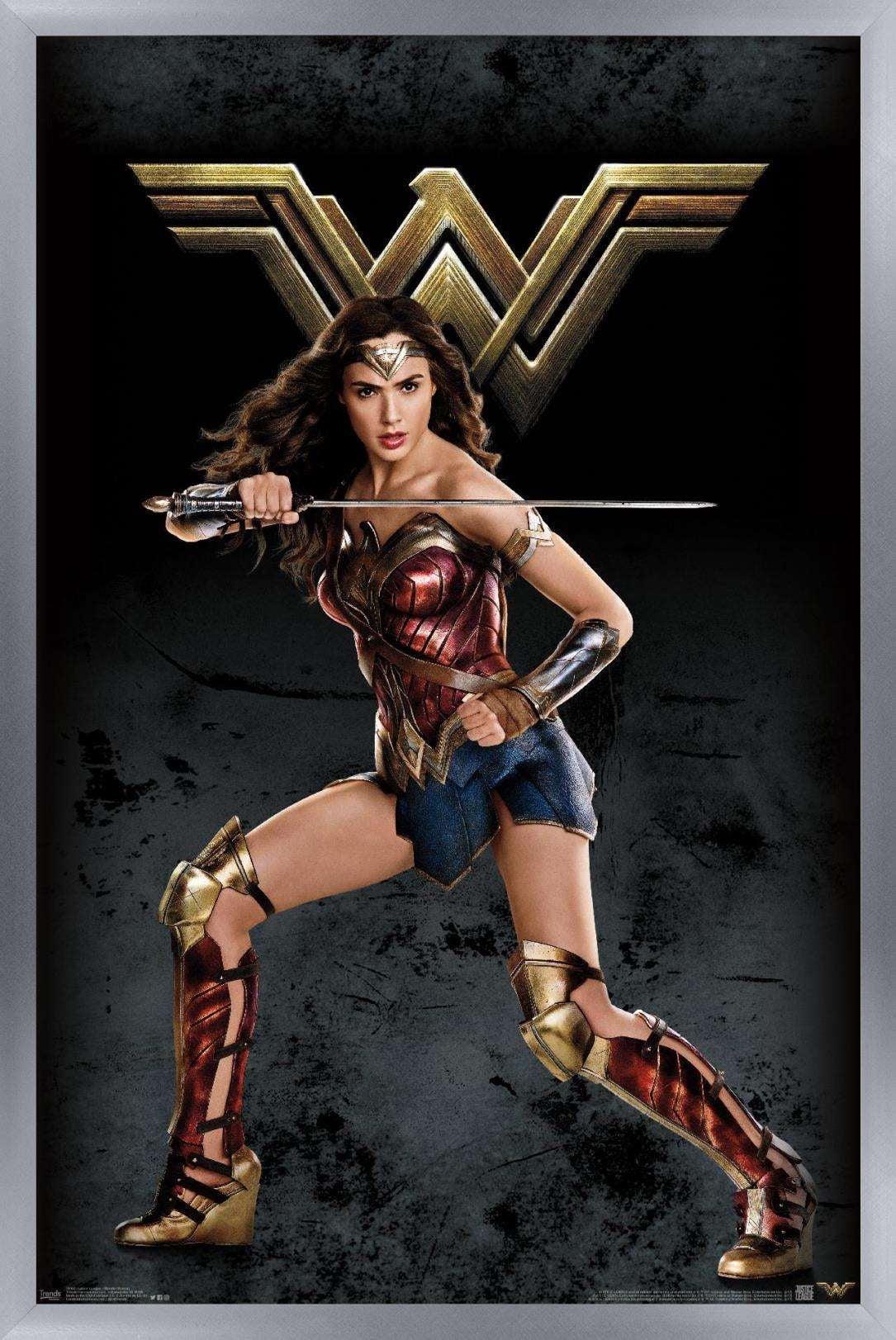 dc comics movie justice league wonder woman poster walmart com