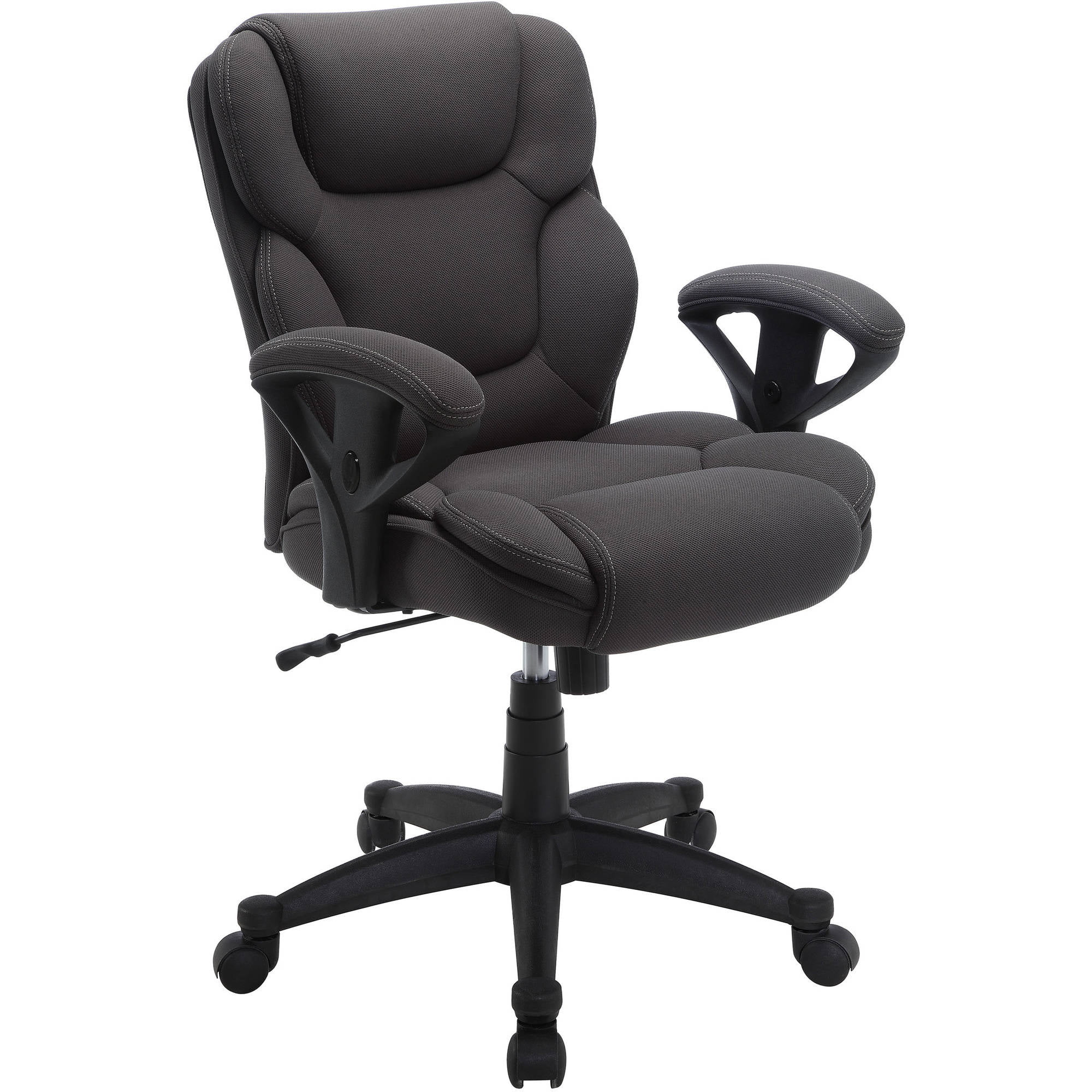 Work Chair Serta Mesh Fabric Swivel Manager Office Chair Available In Gray Fabric And Supports Up To 300 Lbs