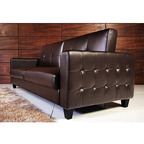 Rome Faux Leather Convertible Sofa Bed Multiple Colors  Walmartcom