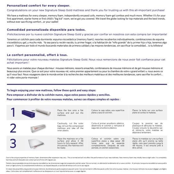 Signature Sleep Gold Series Certipur Us 6 Inch Memory Foam Mattress Multiple Sizes