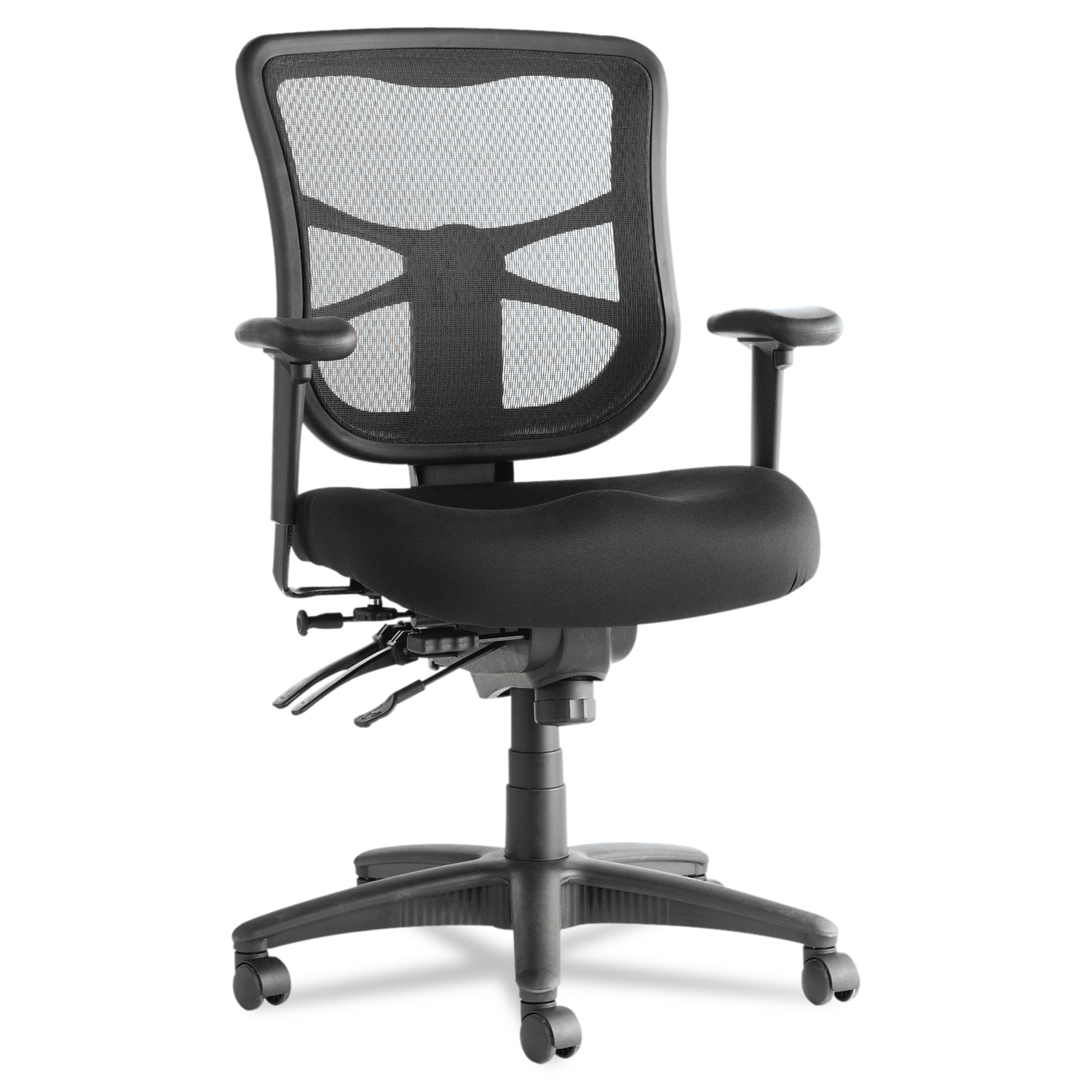 Alera Office Chairs Alera Elusion Series Mesh Mid Back Multifunction Office Chair Black