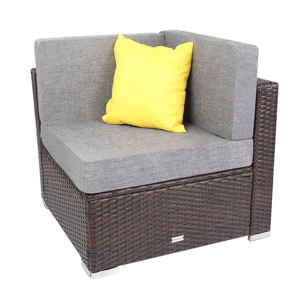outdoor patio garden rattan wicker furniture rattan corner sofa with cushion